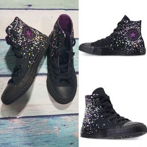 Converse chuck taylor high sneakers girl size 1